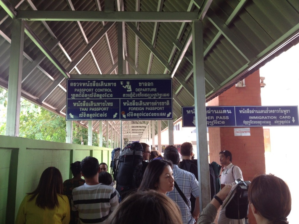 Grenzübertritt von Thailand nach Kambodscha