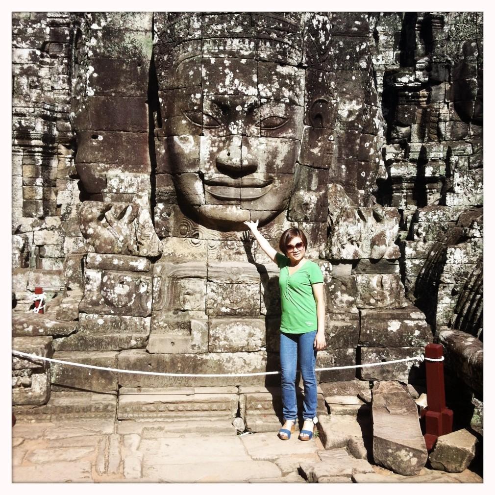 Touristen rund um Angkor
