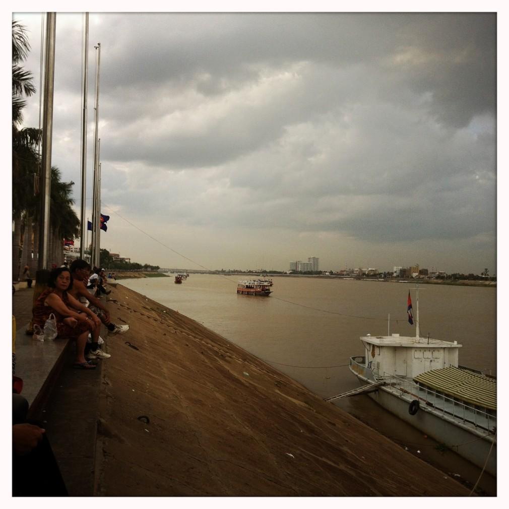 Phnom Penh - Uferpromenade des Mekong