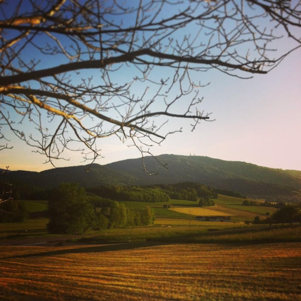 Bayerischer Wald - Hoher Bogen aus der Ferne