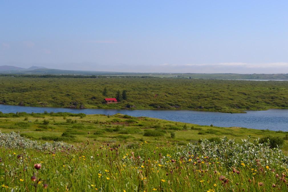 """Wunderschöne Landschaft. Irgendwo, unterwegs auf dem """"Golden Circle""""."""