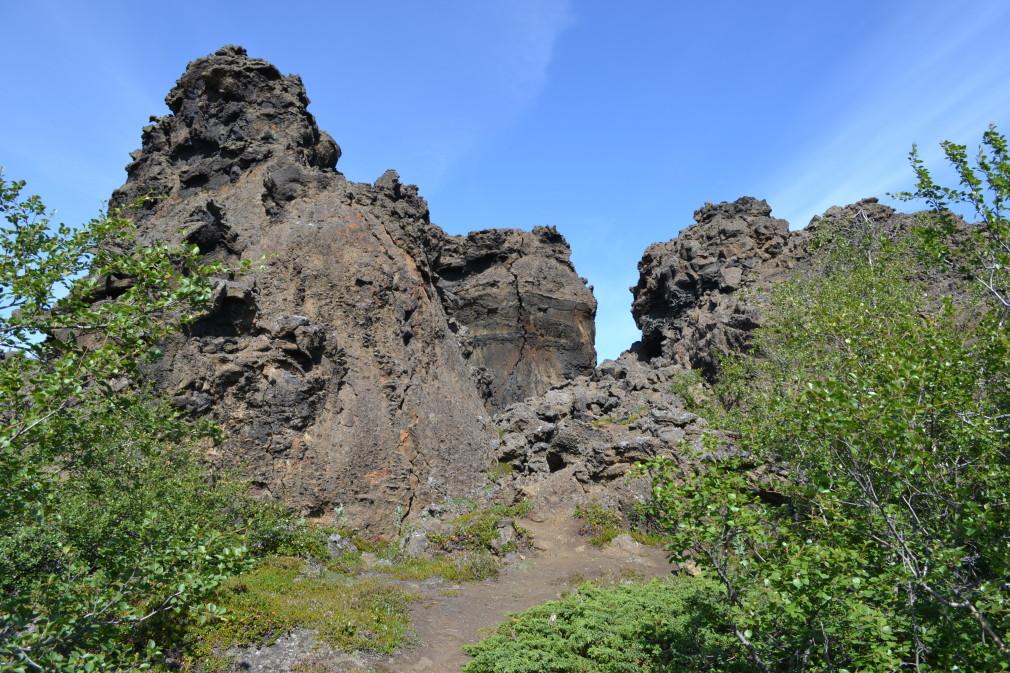 Felsformationen im Lavafeld Dimmuborgir