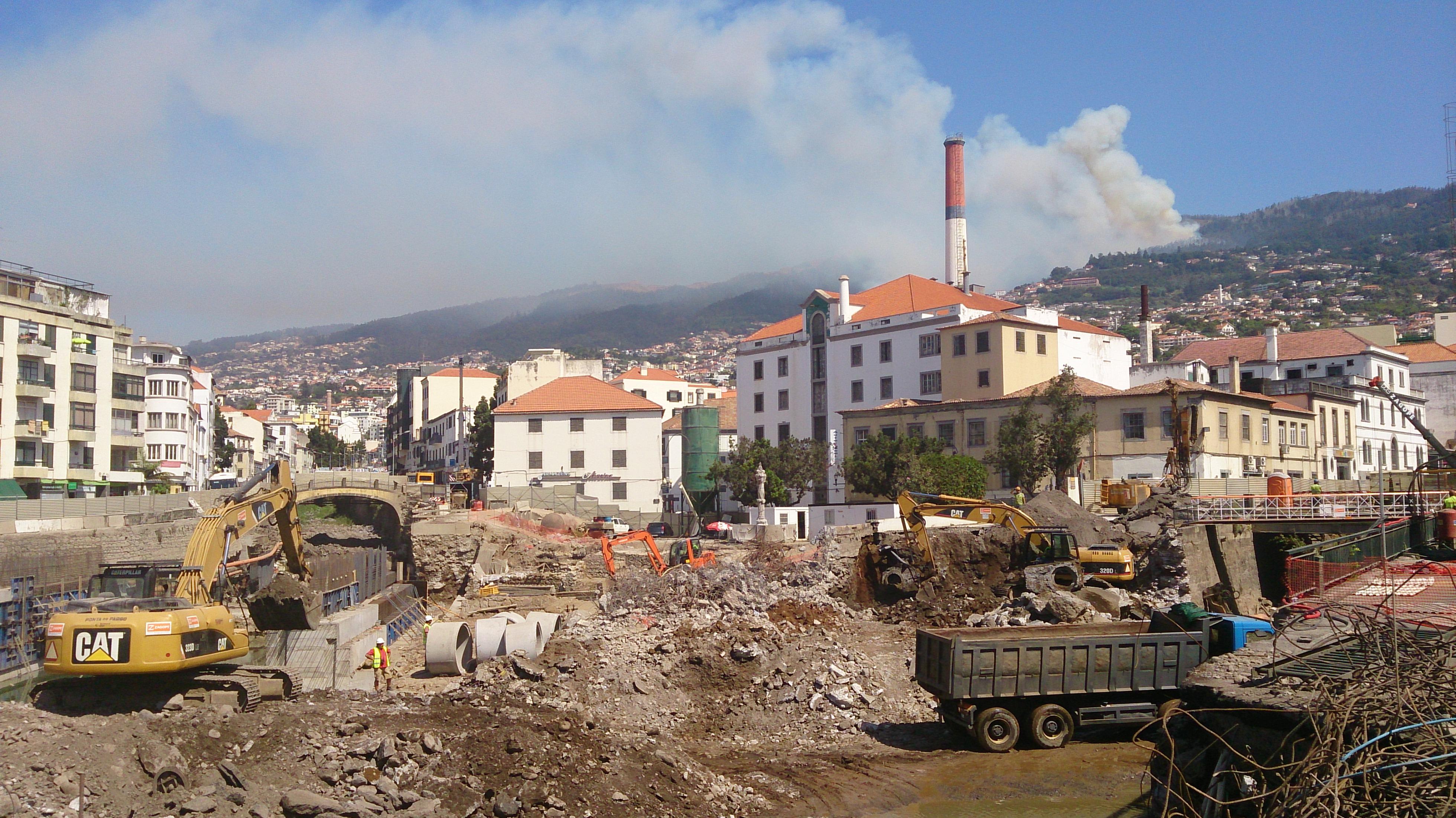 Bauarbeiten in Funchal