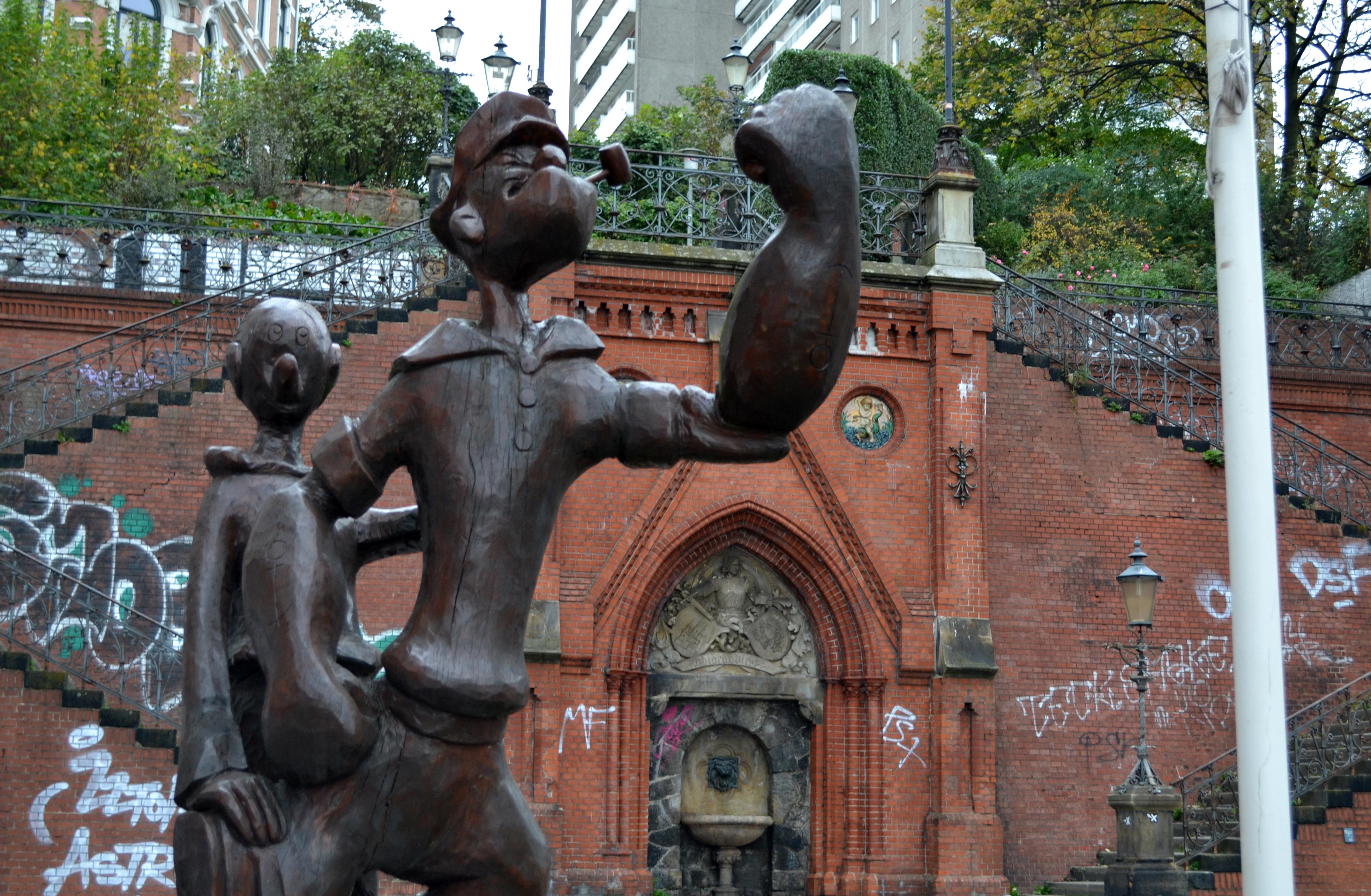 Hamburg - Popeye, Olivia und Köhlbrandtreppe