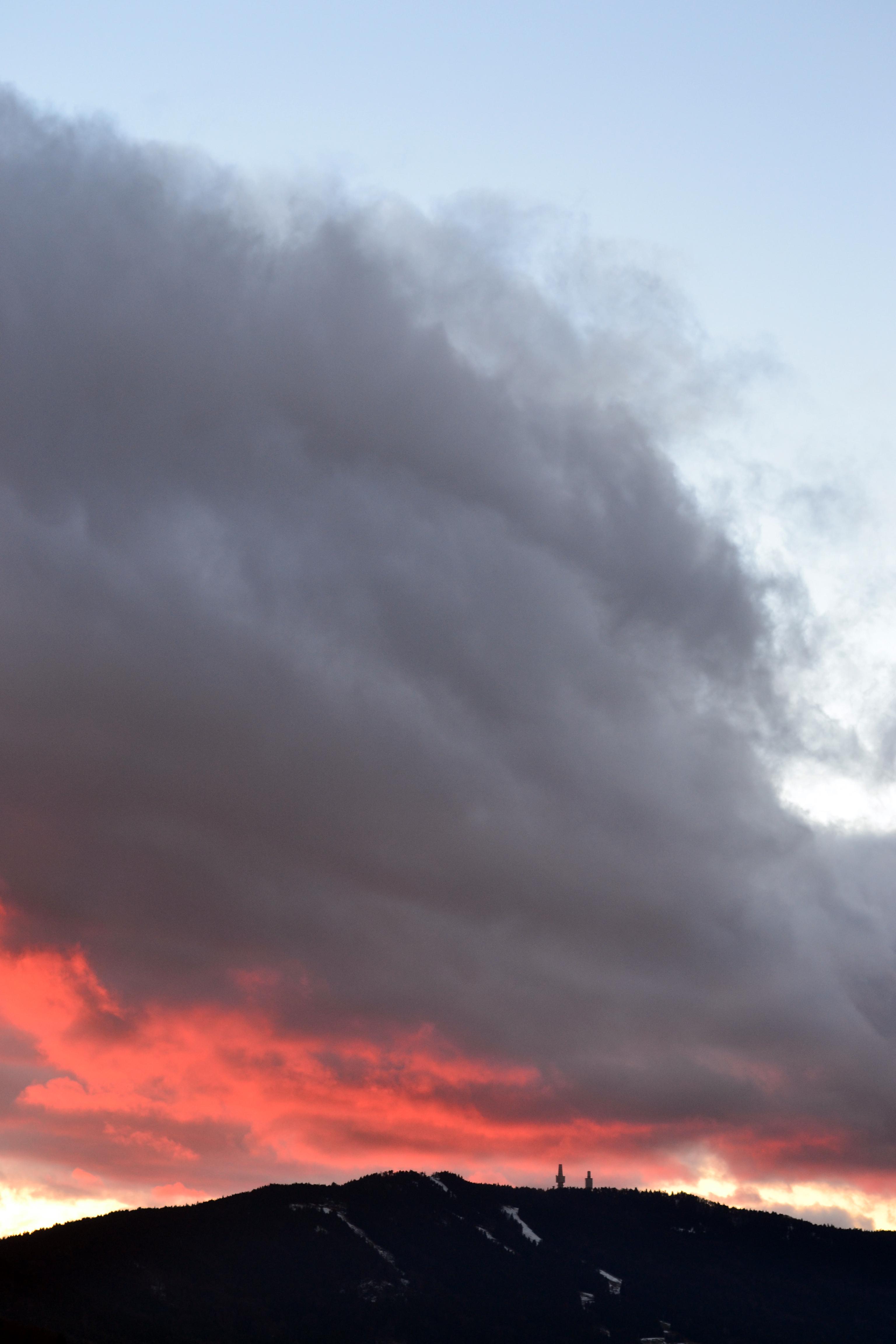 Der Hohe Bogen im Abendrot