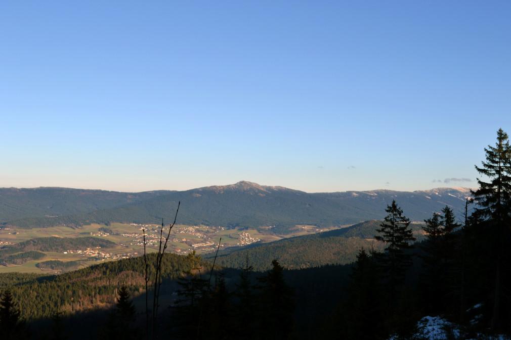 Blick vom Kamm des Kaitersberges auf den Großen Osser