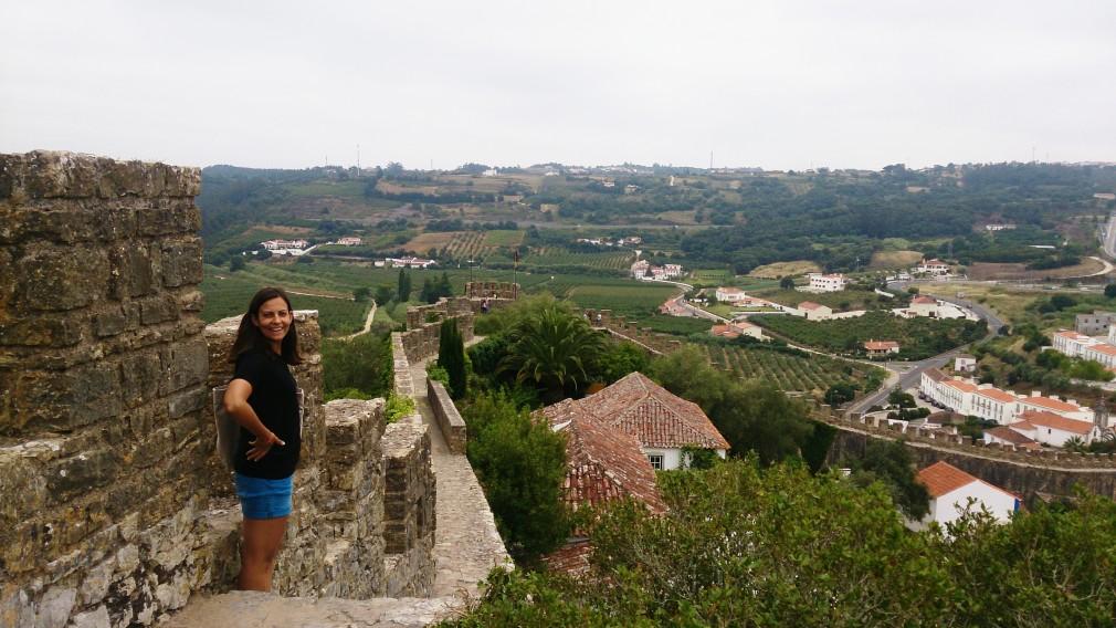 Die Mittelalterliche Stadtmauer von Óbidos.