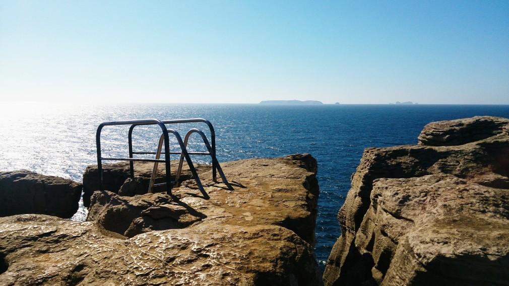 Veranda de Pilates an der Steilküste von Peniche