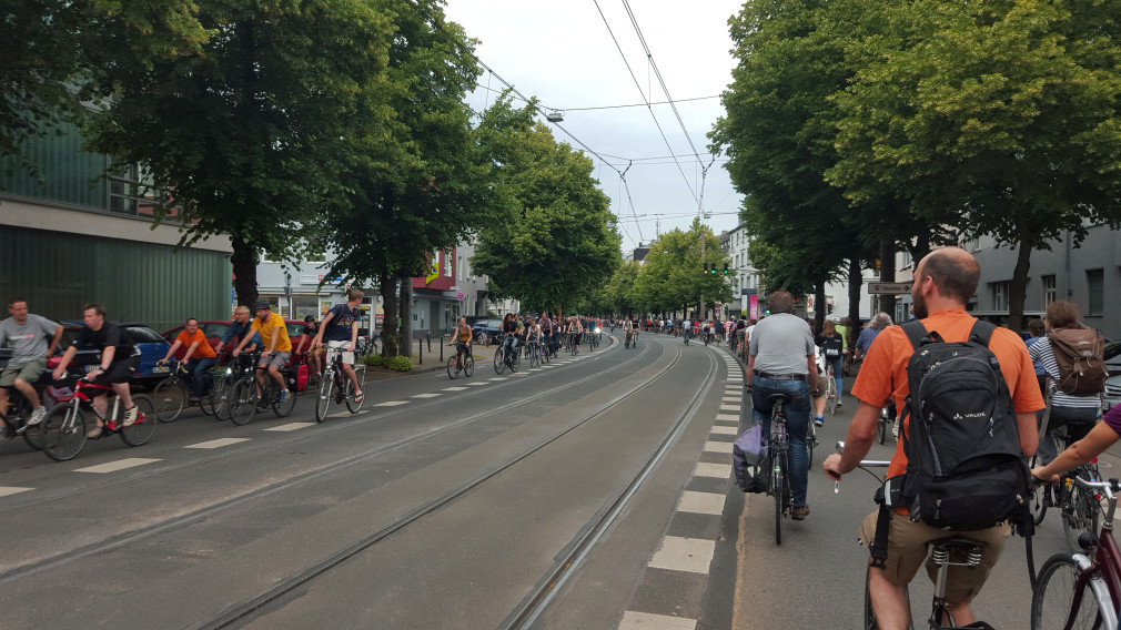Critical Mass am 26.06.2015 in Köln