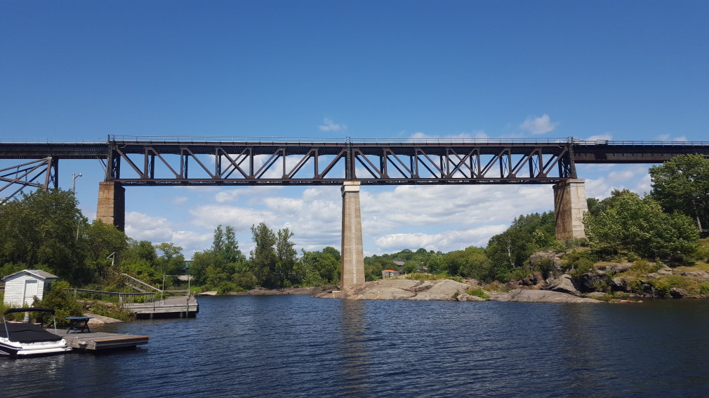 Eisenbahnbrücke in Parry Sound