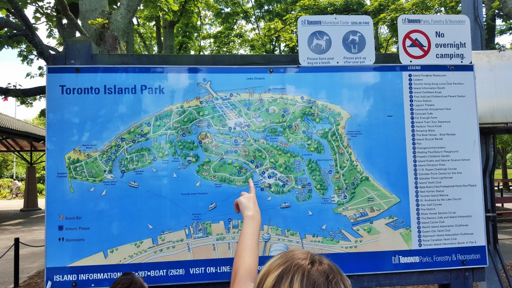 Karte des Toronto Island Parks