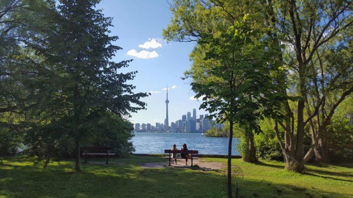 Skyline Torontos vom Toronto Island Park
