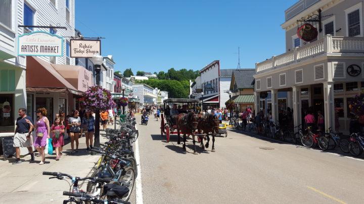 Hauptstraße von Mackinac Island