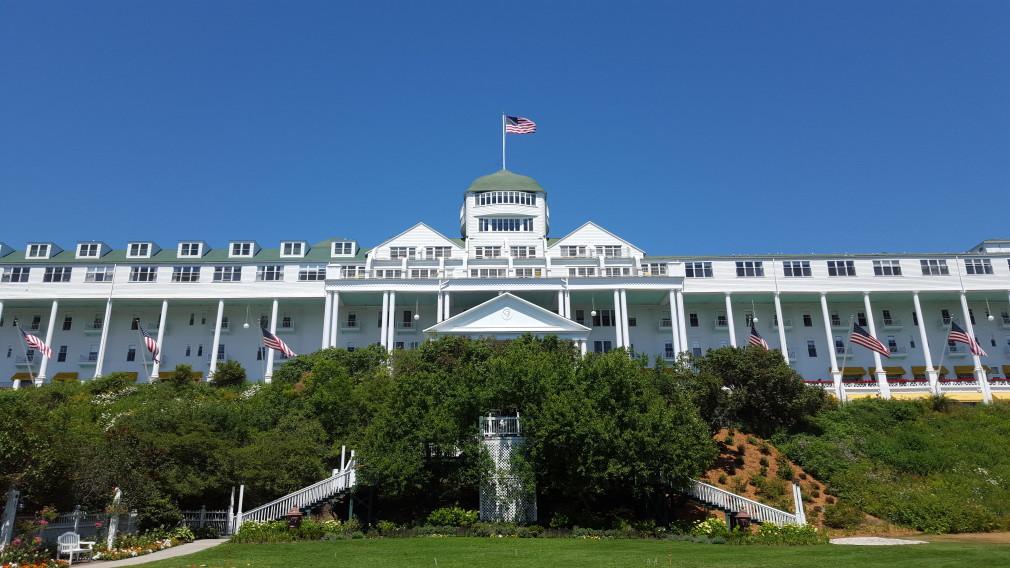 Das Grand Hotel auf Mackinac Island (verfügt nach eigenen Angaben die größte Veranda der Welt)