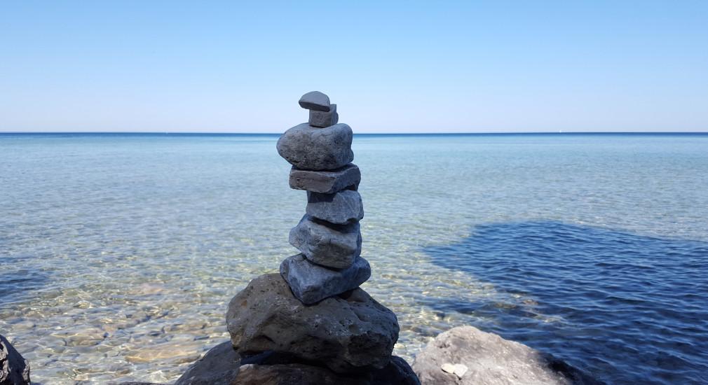 An der Küste von Mackinac Island