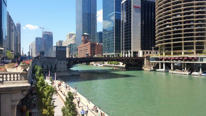 Chicago - Chicago River und Dearborn Street Bridge