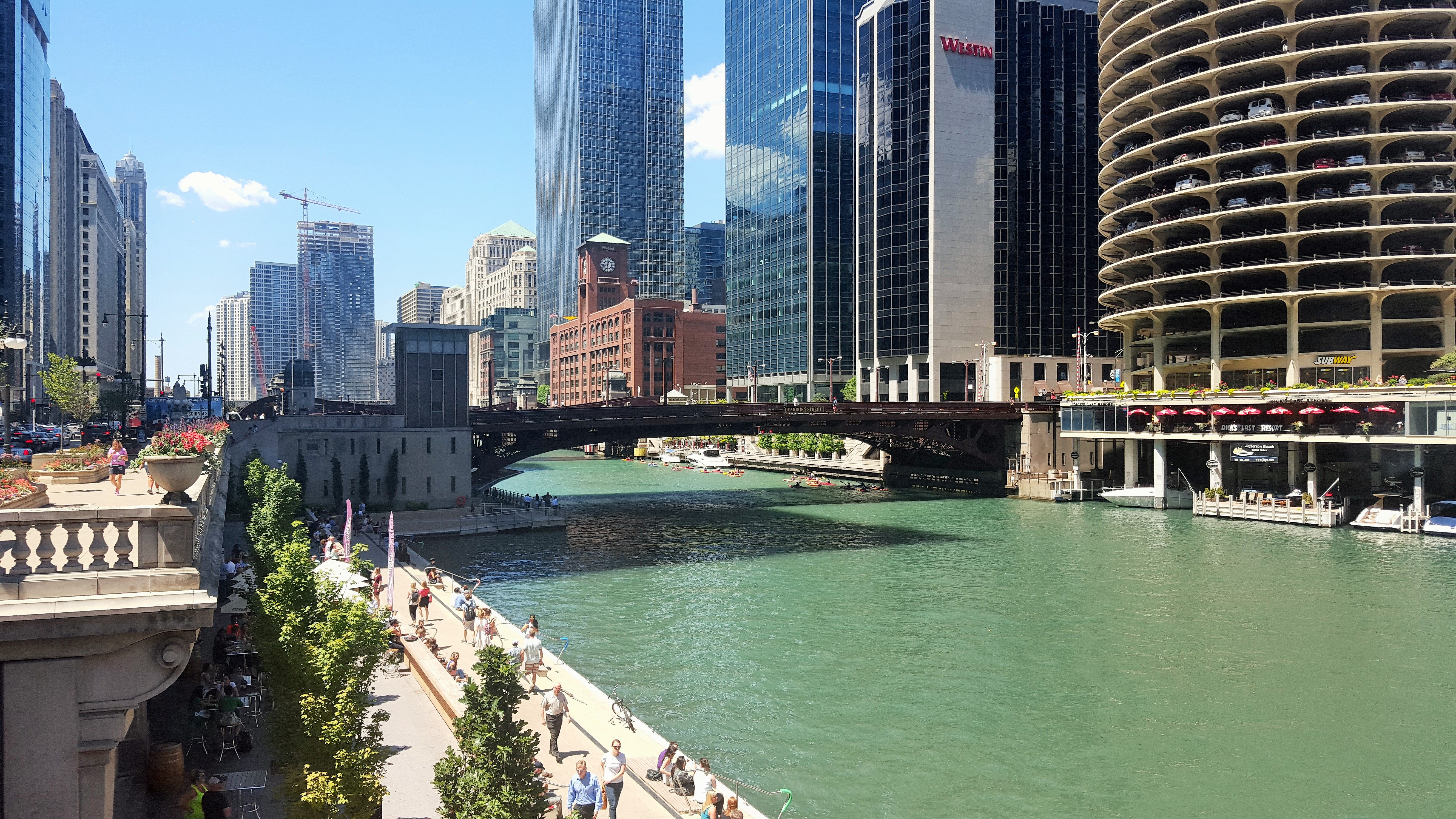 Chicago - Chicago River und Dearborn Street Bridge