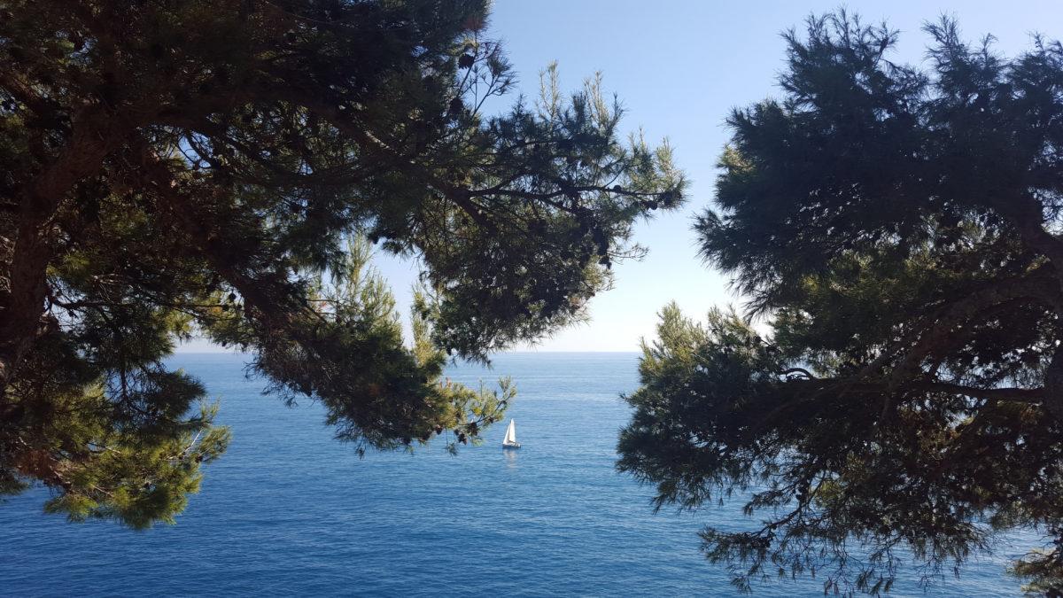 Monaco - Mittelmeer und Segelschiff