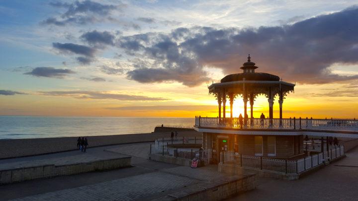 Sonnenuntergang in Brighton
