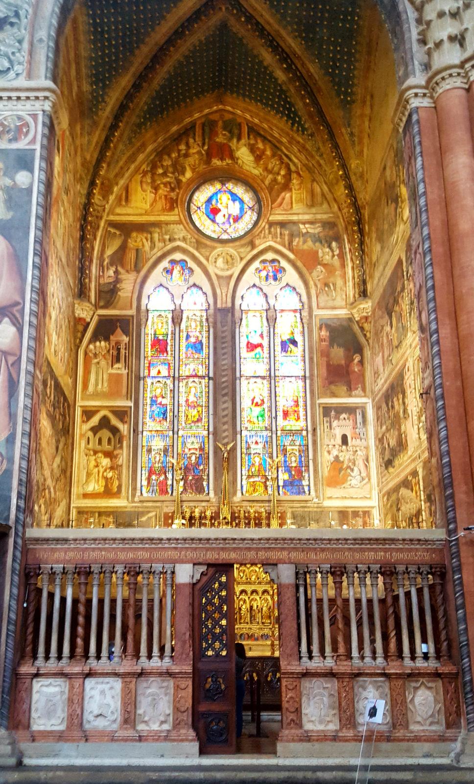 Die Capella Bolognini in der Basilika San Petronio