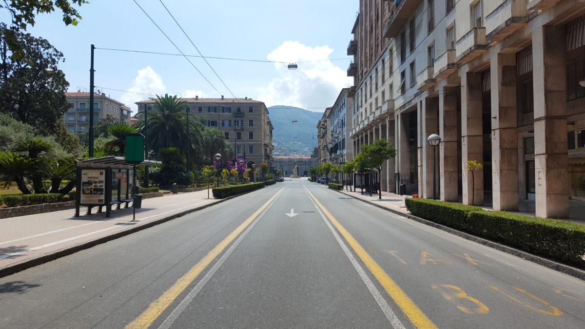 In der Innenstadt von La Spezia