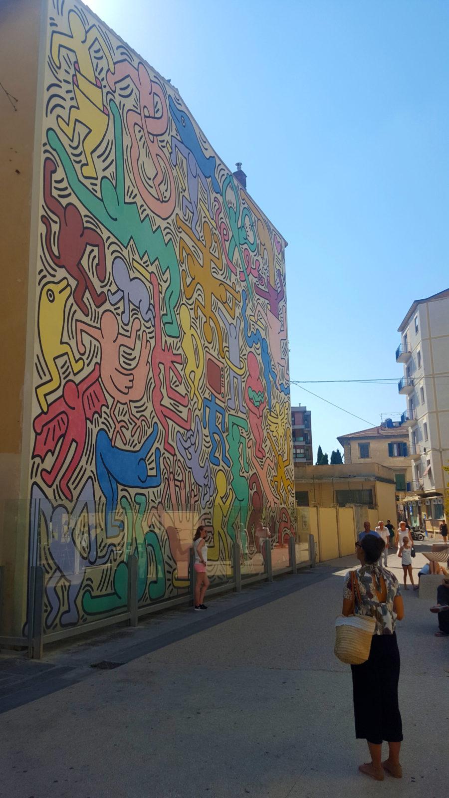 Keith Haring Mural in Pisa