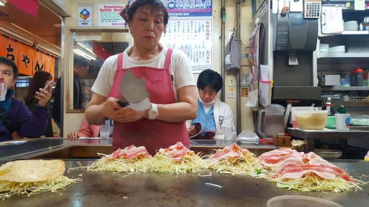 Okonomiyaki in Hiroshima