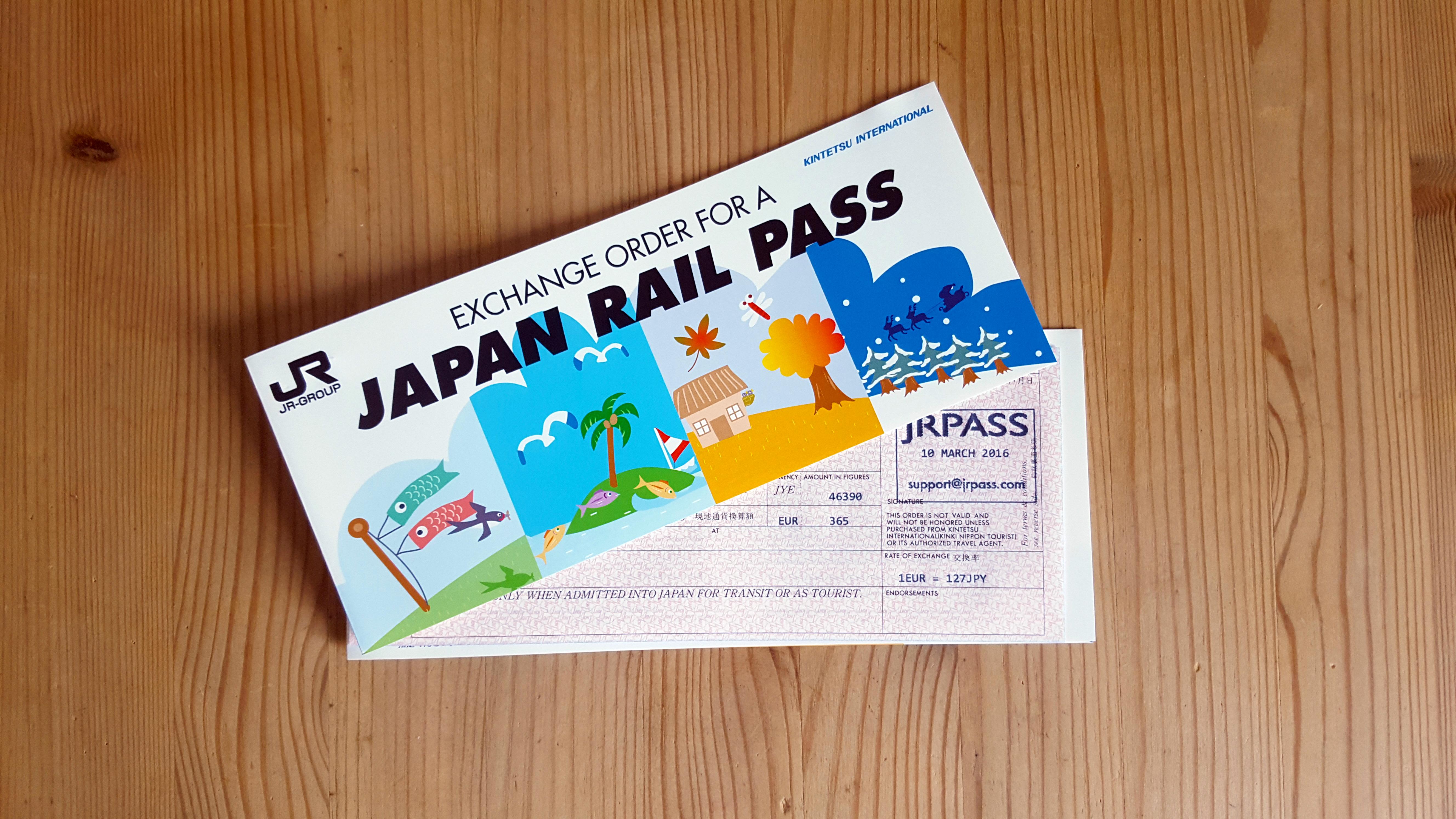 Zwei Japan Rail Pass Gutscheine