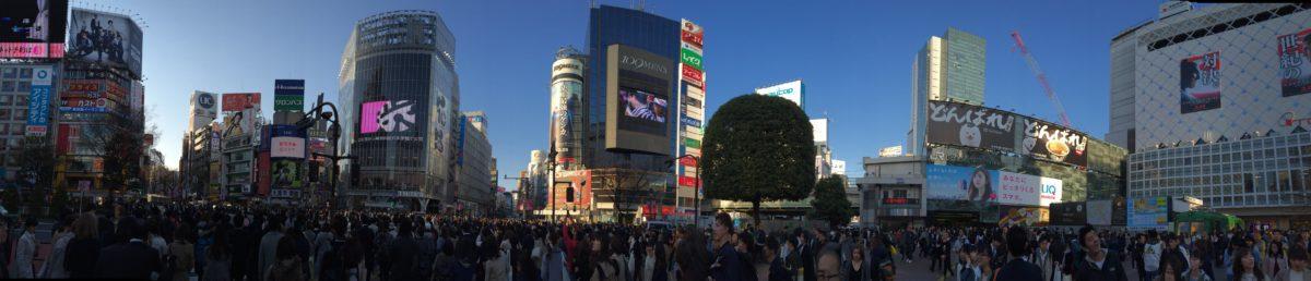 Panoramabild Shibuya Crossing in Tokyo