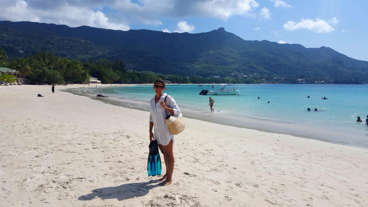 Schnorcheln am Strand von Beau Vallon