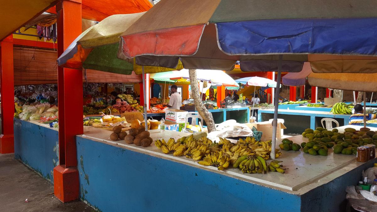 Obststand auf dem Markt in Victoria